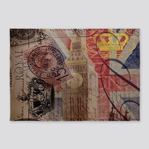 UK flag jubilee vintage decor 5'x7'Area Rug